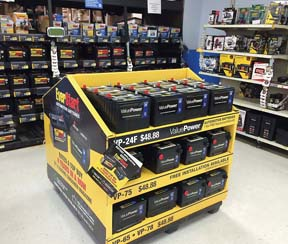 Wal-Mart Battery Display