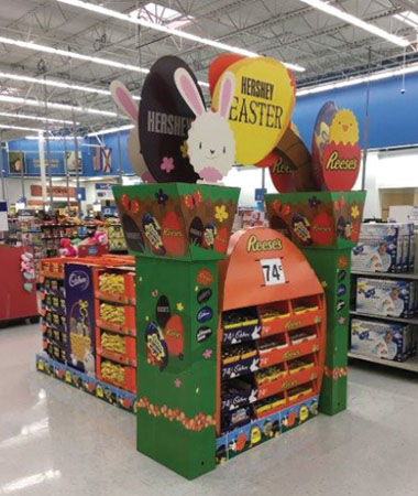 Hershey Easter Candy Display
