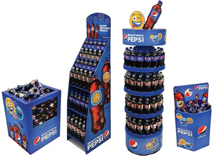 Pepsi Emoji Corrugated Displays