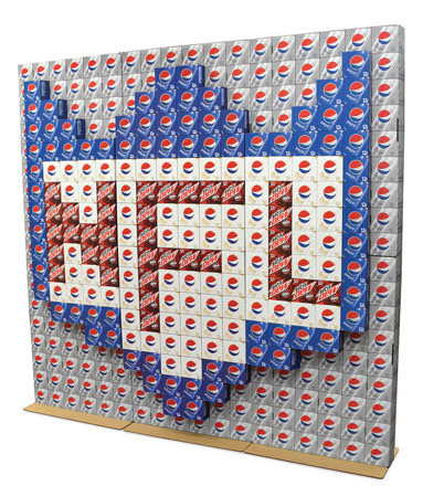 Pepsi NFL Product Wall Display