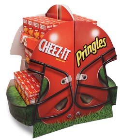 Kellogg's Big Game Football Helmet Display