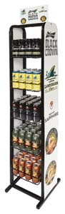Anheiser Bush Beer Rack Stocked