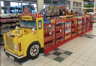 Mondelez School Bus Display