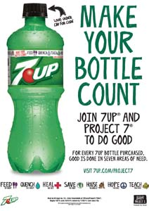 7UP Teams Up With Project 7 To Help Consumers Give Back