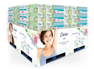 Dove's New Four Pallet Display Features Fresh Scents