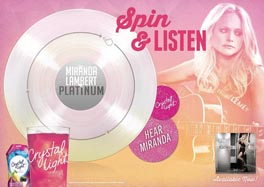 Crystal Light Launches First 'Playable Poster' For Miranda Lambert's Platinum Tour