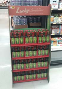 Lucky Buddha Beer Features Sustainable Displays In Walmart