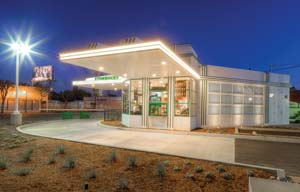 Starbucks Opens Store At Site Of Historic California Gas Station