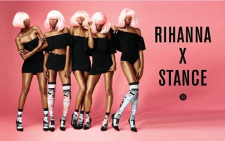 Rihanna's First Seasonal Sock Campaign For Stance