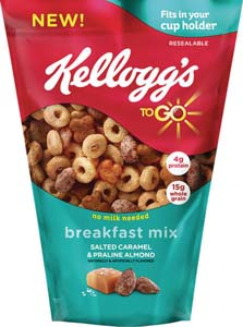 Kellogg Debuts To Go Breakfast Mix