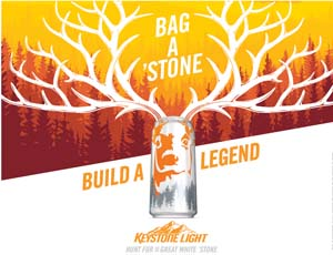 Keystone Light Challenges Fans To 'Hunt For The Great White Stone'