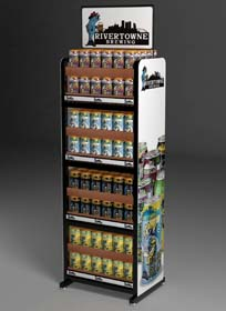 RiverTowne Brewery Uses POP Display For Its Unique Line Of Beers