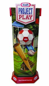 Kraft Project Play Corrugated Display