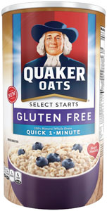 Quaker Introduces Gluten Free Oatmeal