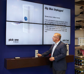 Brookstone Launches Digital 'Lift And Learn' Displays