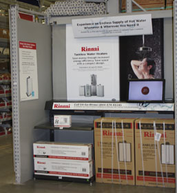 Rinnai Displays Tankless Water Heaters At Lowe's Stores Nationwide