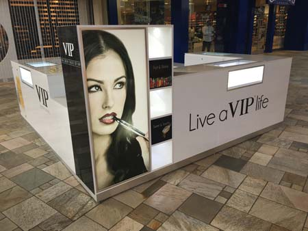 VIP Brand Opens First Kiosk At FlatIron Crossing Mall