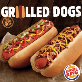 BURGER KING To Add Flame-Grilled Hot Dogs To Menu