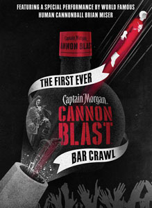 Captain Morgan Cannon Blast Makes Official Debut