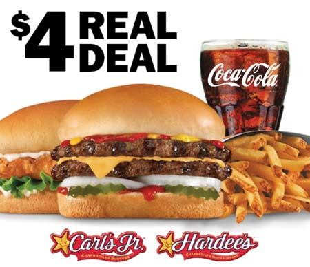 Carl's Jr. & Hardee's Offer Real Deal Promo.