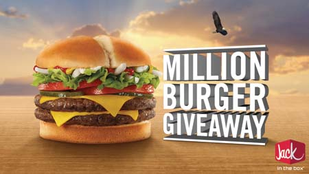 Jack In The Box Launches One Million Burgers Give Away