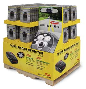 Whistler Laser Radar Detector Pallet Featured In Costco