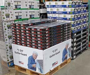 DIY Gutter Guard Displayed In Costco Stores
