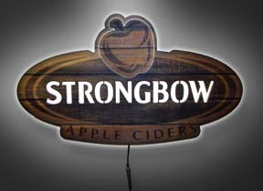 Strongbow Features LED Illuminated Wood Sign