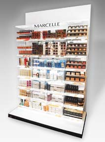 Marcelle Features Cosmetics Wall Display