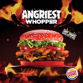 BURGER KING Promotes Angriest WHOPPER Sandwich