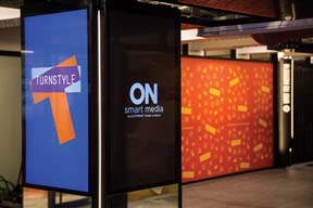 OUTFRONT Media Rolls Out On Smart Media Platform At TurnStyle Store