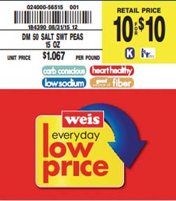 Weis Markets Introduces Nutri-Facts Shelf Tag Program