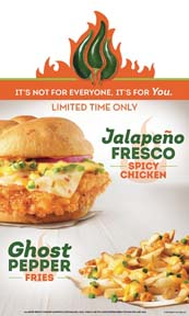 Wendy's Promotes Jalapeño Fresco Spicy Chicken Sandwich