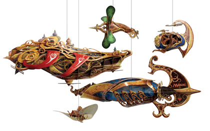Wizards of the Coast Kaladesh Thopters & Airships Display