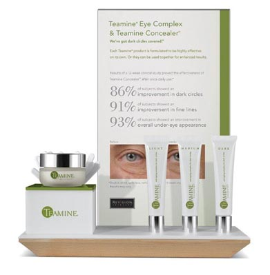 REVISION Skincare Wood Platform Display