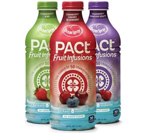 Ocean Spray Debuts New PACt Fruit Infusions