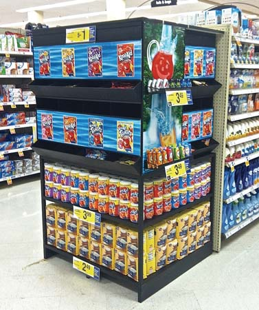 Kool Aid End Cap Display