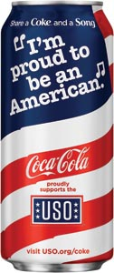 Coca-Cola Celebrates  USO Partnership With  Patriotic Packaging
