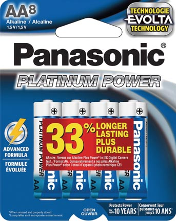Panasonic Launches Platinum Power Batteries