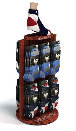 Kentwool Counter Displays Merchandise Socks