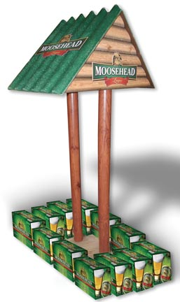 Moosehead Offers Distinctive Case Stacker Display