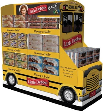 Little Debbie Snacks Displayed On Seasonal Vehicles
