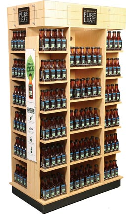 Pure Leaf Tea House Features Endcap Display
