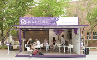 BeautyKind Conducts College Tour Using 20′ Container Suite