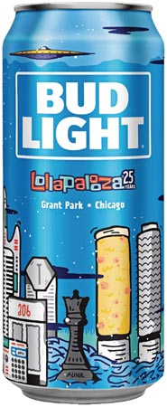 Bud Light Debuts Lollapalooza Cans