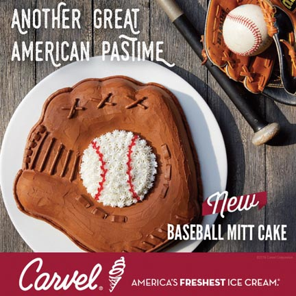 Carvel Celebrates Baseball With New Baseball Mitt Cakes
