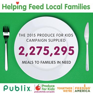 Publix Partners With Produce For Kids For Campaign To Benefit Feeding America