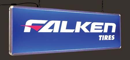 Falken Tires Features Double Sided Sign