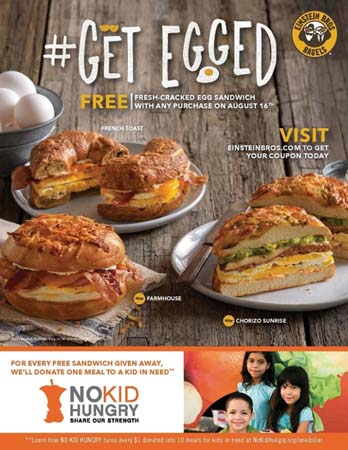 Einstein Bros. Bagels Launches Partnership With No Kid Hungry