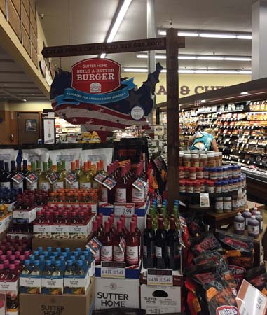 Sutter Home Displays Build A Better Burger Promotion